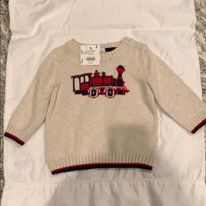 Janie and Jack Holiday Train Sweater 6-12 months